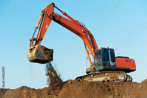 track-type loader excavator at work