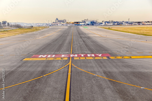 runway at  Barajay Airport  in Madrid, Spain - 41223520