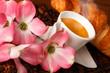 Caffè espresso con cornetto fresco