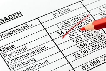Rotsift Kostenrechnung