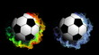 Two Sports Ball in Particle, with Alpha Channel - HD1080
