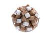 Brauner Zucker. Ungesunde Ernährung mit Kohlehydra