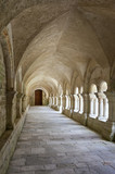 Old colonnaded closter in the Abbaye de Fontenay - 41224524