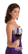 Woman Serving a Glass of Wine