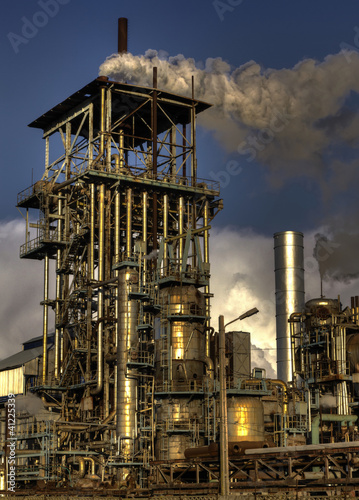 chimneys of industrial buildings..