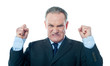 Frustrated senior businessman