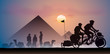 Vélo au pyramides