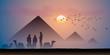 Pyramides au crépuscule