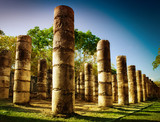 Chichen Itza, Columns in the Temple of a Thousand Warriors