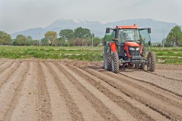 mezzo agricolo a lavoro