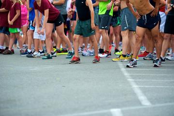Runners Starting Line