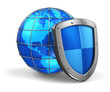 Global and internet security concept