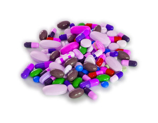 Pile of Pills (Isolated)