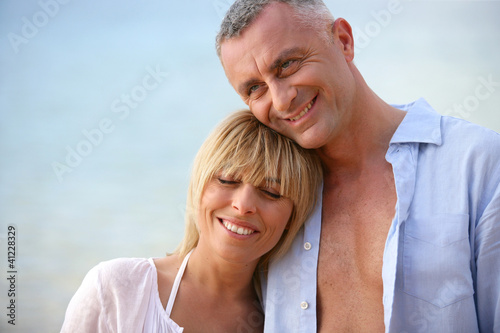 Relaxed couple in the summer