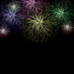 Exploding Fireworks Background For New Years Or Independence Cel