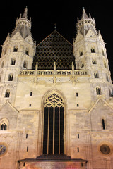 Stephansdom in Vienna by night