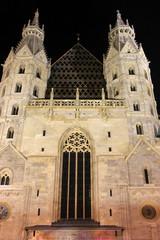 Stephansdom in Vienna by night