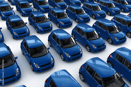 Blue Car Parking