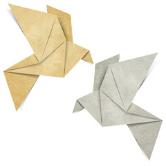 Origami Bird papercraft made from Recycle Paper