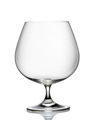 Single empty brandy glass
