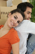 Couple happy to have moved in