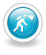 "Light Blue Icon ""Caving / Spelunking"""