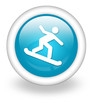 "Light Blue Icon ""Snowboarding"""