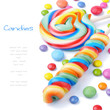 Colorful lollipops and smarties