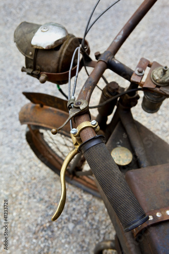 Moto, collection, transport, brocante, antiquité, rouille