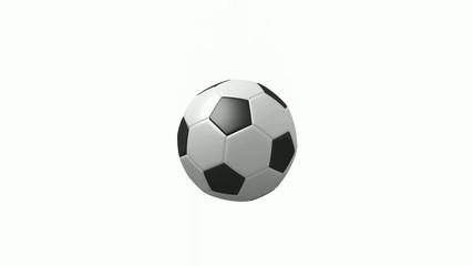 Animation eines springenden Fussballs (Full HD, 30 FPS)