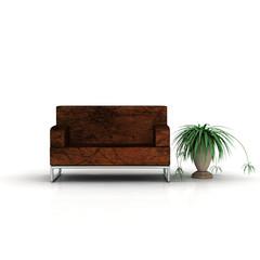 Sofa und Pflanze