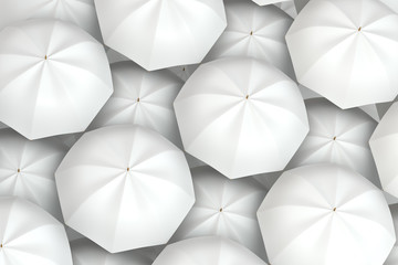 white umbrellas background