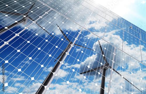 Staande foto Industrial geb. green energy background