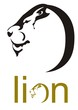 Lion head symbol. Lion head in the form of a letter O