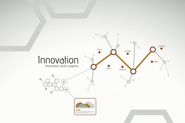 Busines innovation and research graphics for presentations