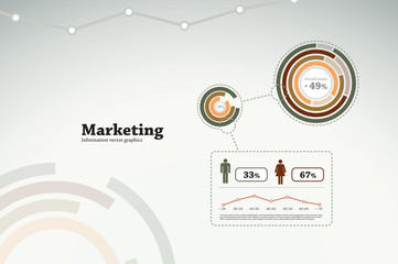 Marketing infographics - graphs and statistics for business repo