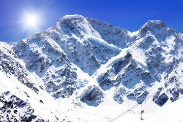 Beautiful view of mountains in the Elbrus area.