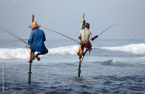Leinwanddruck Bild Sri Lanka, south coast - January 05; 2011: traditional sri lanka