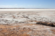 salt field in desert