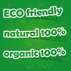 Set of Eco Friendly, Natural and Organic Labels