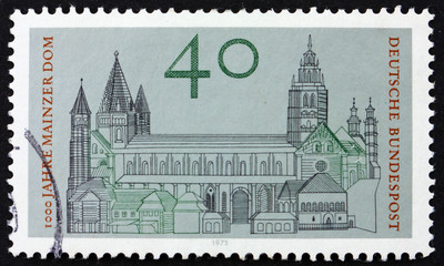 Postage stamp Germany 1975 Cathedral of Mainz