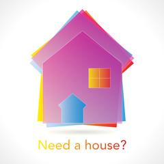 Colorfull Real estate icon