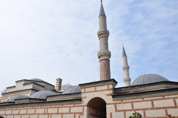 domes of mosque in Turkey