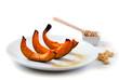 plate with sweet pumpkin desert