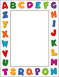 Alphabet Frame, copy space, posters, school, daycare, education