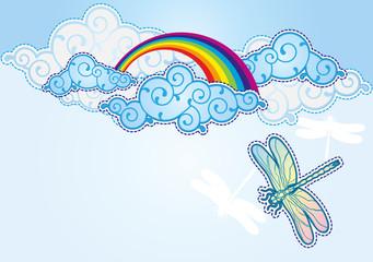 Cartoon style sky background