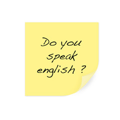 post it : do you speak english ?