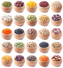 legumes collection isolated on white