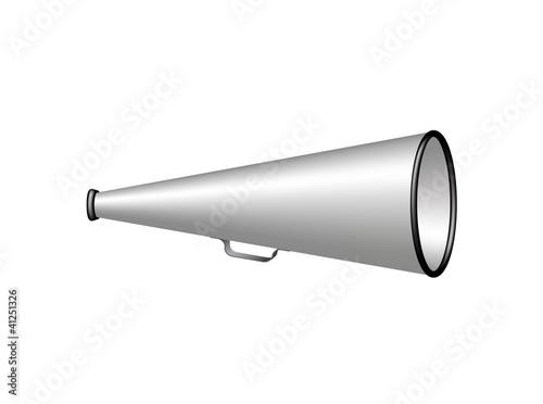 Silver vintage megaphone