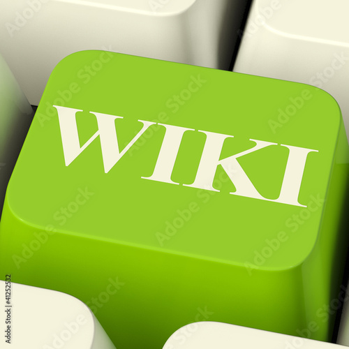 Wiki Computer Key For Online Information Or Encyclopedia